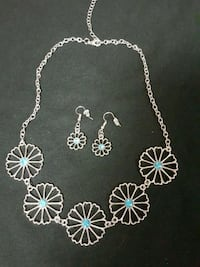 Aqua stone necklace and earrings  Sugar Land, 77478