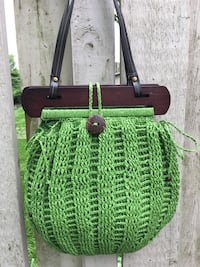 New green cute summer handbag . Cappelli made of Italian straw. Cary, 60013