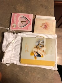 Baby book, photo album and belly stickers