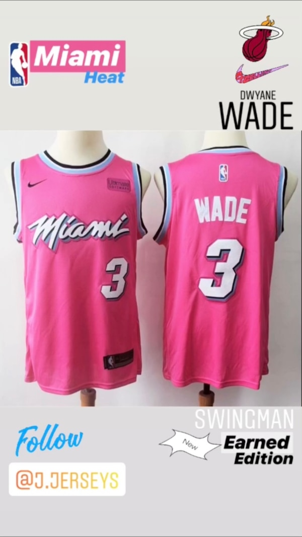 promo code a4479 a01fb NEW NBA Earned Edition SWINGMAN jersey - Miami Heat (Dwyane Wade)