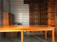 Solid Cherry Corner Desk and Corner Bookcase Units - $2000 (cary, nc) CARY