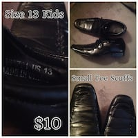 Size 13 boys black dress shoes Edmonton, T5T 3E9
