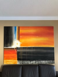 """Large oil on canvas abstract painting. 59""""x78 Whitchurch-Stouffville, L4A 0B5"""