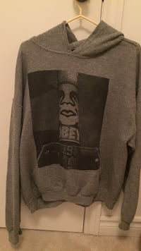 gray pull over hoodie