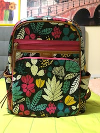 black, green, and pink floral backpack Richmond, V6X 3L9