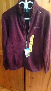 maroon and white zip-up hoodie Calgary, T1Y 2E4