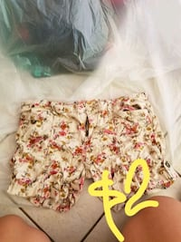 white and red floral shorts Sunnyvale, 94089