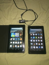 Two Amazon fire tablets  Washington, 20032