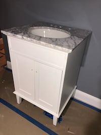 New Vanity sink with top carrera marble 250$ solid wood !!!