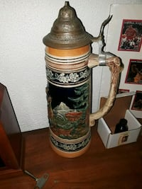 white and brown ceramic beer stein Tampa, 33605