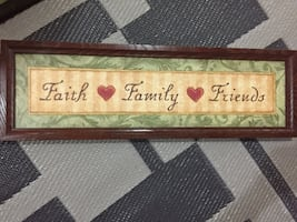 Faith family and friends wooden pallet