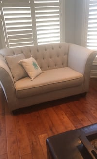 Excellent condition grey fabric loveseat