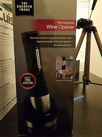 The Sharper Image rechargeable wine opener in box Houston, 77098