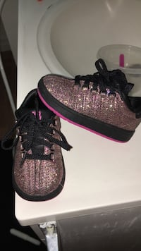 pair of pink-and-black Adidas sneakers Anaheim, 92801
