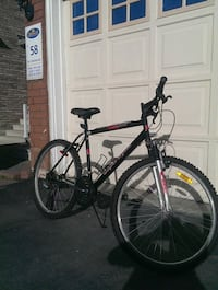 black and red hardtail mountain bike Mississauga, L5N 8P4