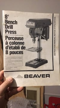 "Beaver 8"" bench drill press. Excellent condition Mississauga, L5J 1J4"