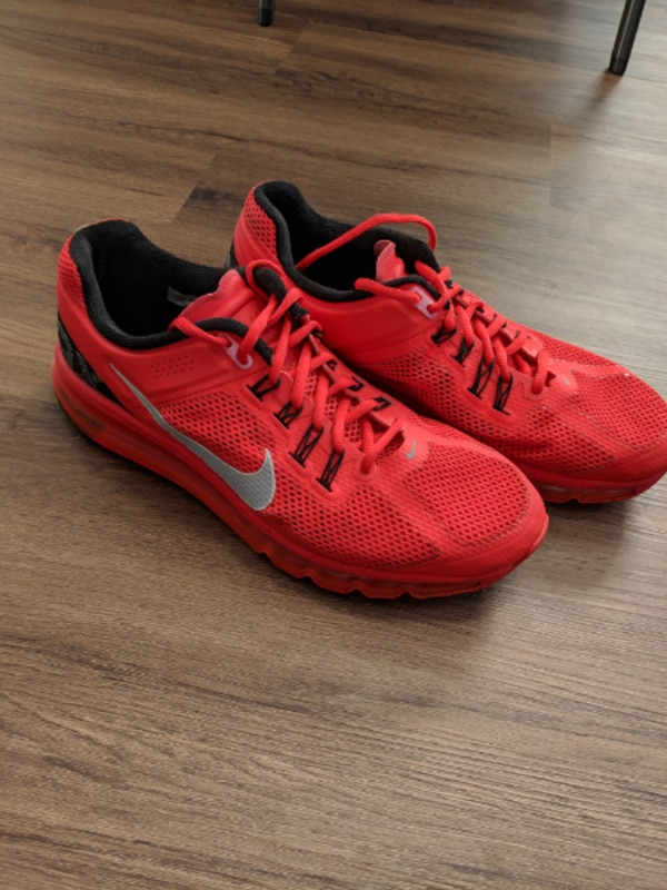 best service a3d59 0fbc2 NIKE AIR MAX + PLUS PIMENTO 2013 RED MENS US 11 RUNNING SHOE SNEAKER [PHONE  NUMBER HIDDEN]