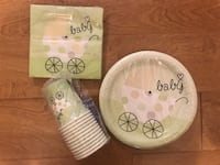 Baby shower party set - cups, plates, napkins  Maitland, 32751