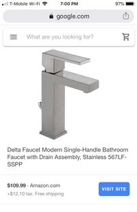 Delta single handle faucet
