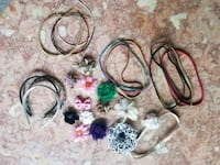 Girls or ladies hair accessories, bands, hair clip