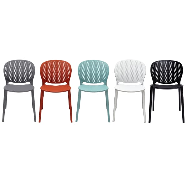 2xhome Contemporary Modern Stackable Assembled Plastic Chair Molded with Back Armless Side Matte for Dining Room Living Designer Outdoor Light Weight Garden Patio