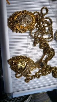 LION NICKLES 18 GOLD PLATED 24 INCH