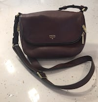 Brown Fossil small leather crossbody bag.. as new! Calgary, T2J 2M3