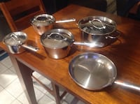 9 Piece Revere Stainless Steel Cookware with Copper Bottles  St. John's, A1E