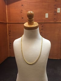 18k Gold plated rope chain $20 obo