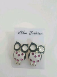 Polka Dot Owl Earrings  Mississauga, L5K 2R4