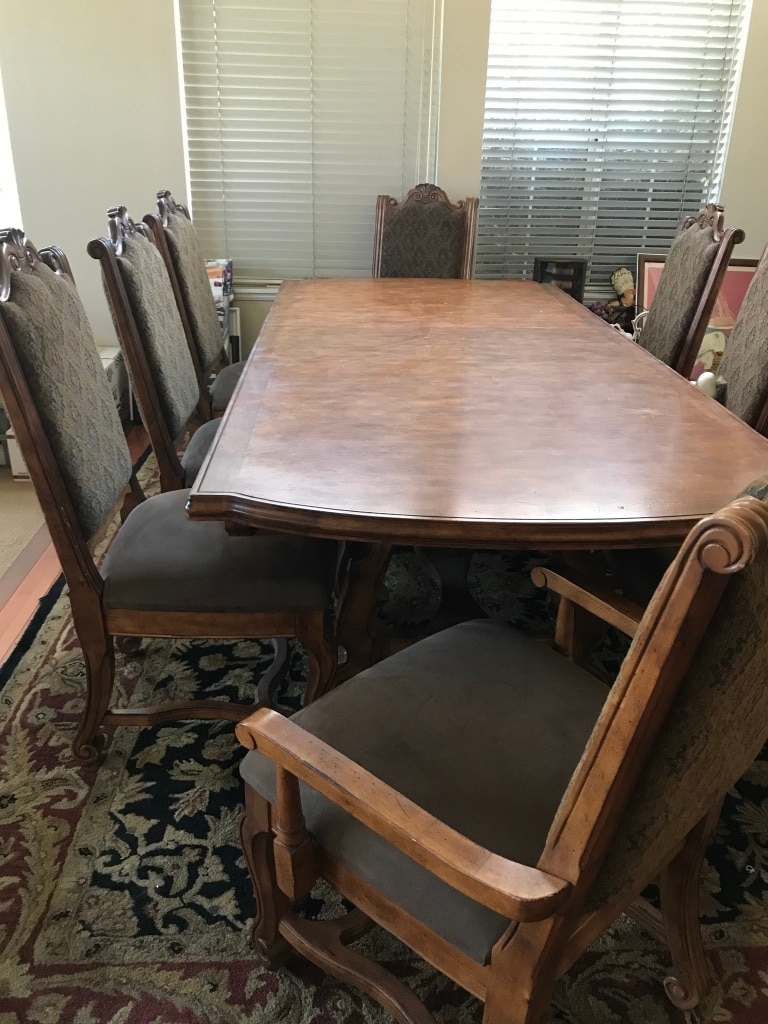 used rectangular brown wooden dining table set for sale in simi rh tr letgo com