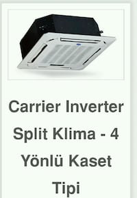 CARRİER İNVERTER KASET TİPİ KLİMALAR