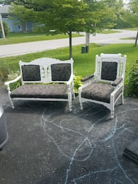 antique solid wood settee and accent chair Orillia, L3V 4E1