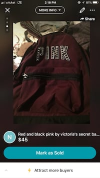 red and black Adidas backpack screenshot Wichita, 67217