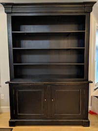 French country/salvaged wood bookcase.