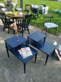 rectangular black metal table with four chairs Grand Rapids, 49505