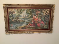 Handmade needlepoint picture frame Laval, H7W 4L3