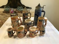 Vintage beer steins and mugs Germany and Japan one musical sold together West Islip, 11795