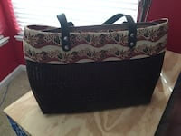 Woven Tote with leather straps Salinas, 93906