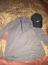 gray Nike half-zip sweater and black cap Venice, 34293