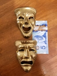 2 brass faces $6 for both