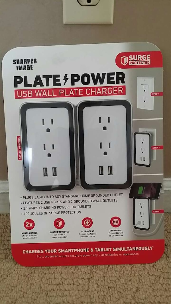 Used Sharp Image Plate Power Usb Wall Plate Charger For Sale In