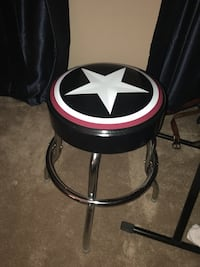 black, white, and pink star printed leather padded seat Alexandria, 22304