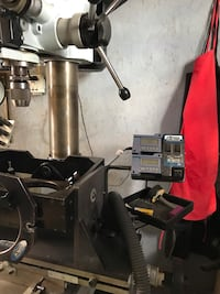 Bowling drill press with full set of bits