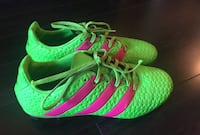 green-and-pink Adidas cleats Mississauga, L5B 4M7