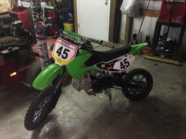 Used 2009 klx110 tons of mods will trade for sale in