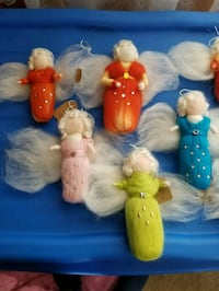 Needle felted angel ornaments. 10$ eacb Cochrane, T4C 2B1