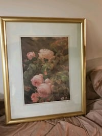 Flower Picture with Gold Color Frame