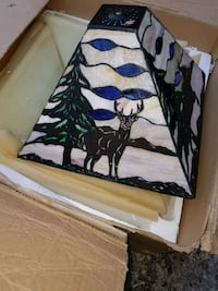 Deer stain glass lamp