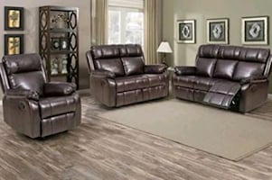 Reclining sofa and loveseat and recliner